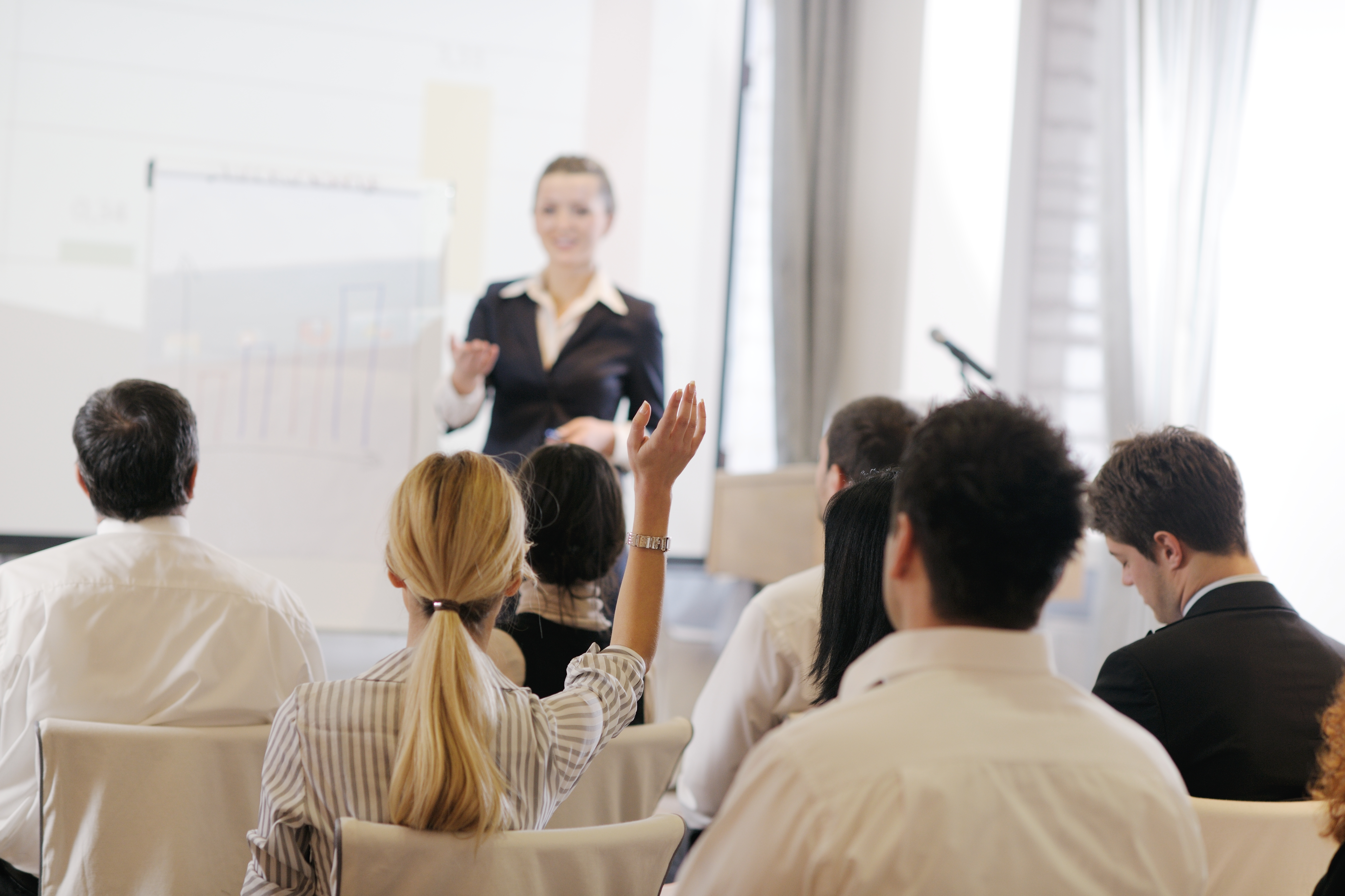 Video-conference presentations require audience participation just like in person presentations