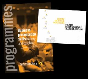 secondnature Programs Menu and Corporate Brochure