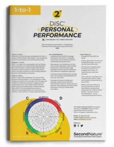 DISC personal Performance topline