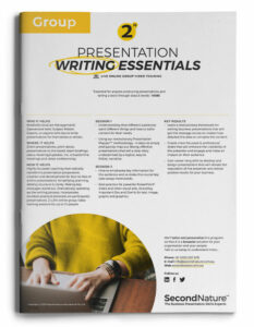 Presentation Writing Essentials topline