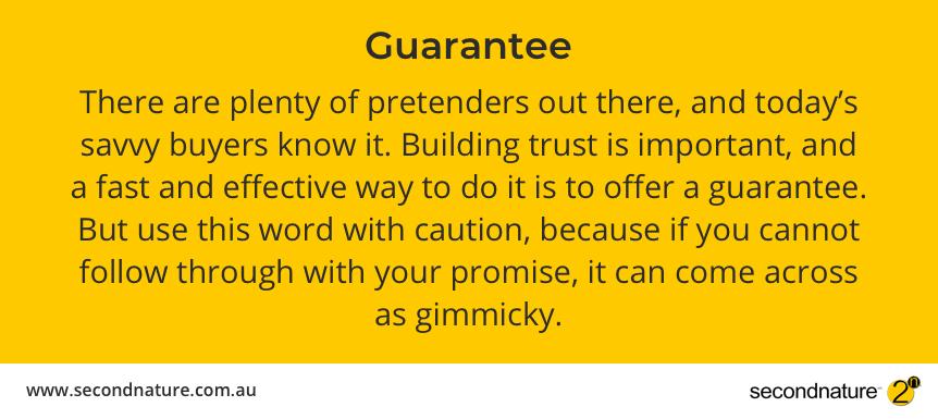 Power word - guarantee