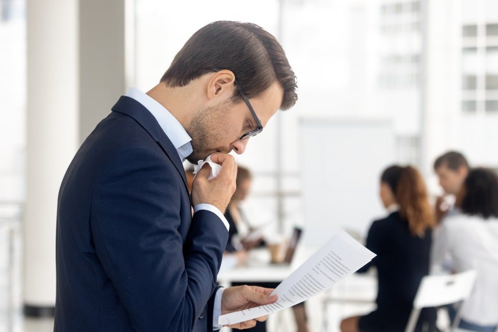 Presentation training could help this presenter overcome nerves