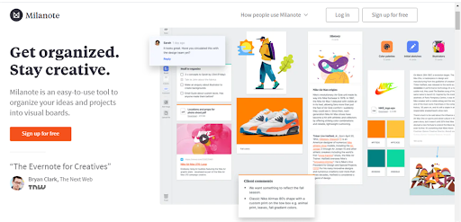 Milanote online collaboration tool