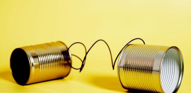 tin cans representing poor communciation skills